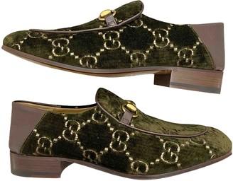 Gucci Green Velvet Flats