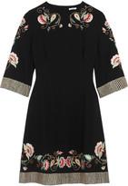 Vilshenko Alessia Embroidered Crepe Dress - Black