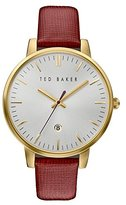 Ted Baker Women's 'Classic' Quartz Stainless Steel and Leather Dress Watch, Color:Silver-Toned (Model: 10030739)