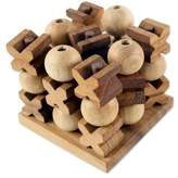 Hand Made Wood Game Tic Tac Toe from Thailand, '3D Tic Tac Toe'