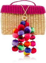 Nannacay M'O Exclusive Baby Roge Straw Tote Bag With Pompoms