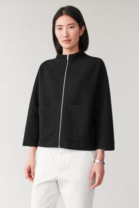 Cos Boiled Merino Zip-Up Jacket