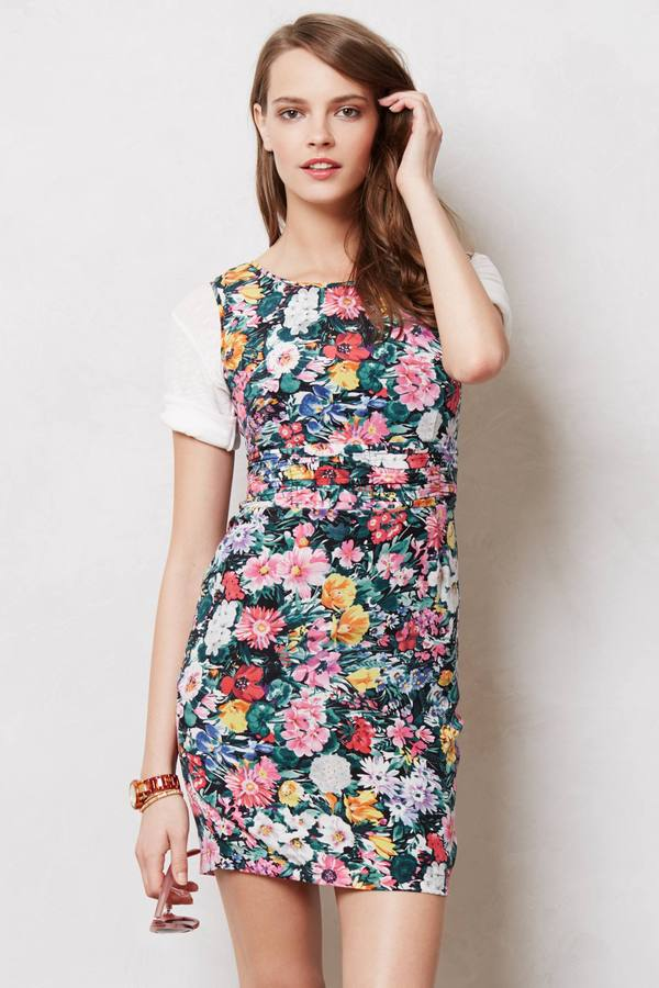Anthropologie Curated Blooms Shift