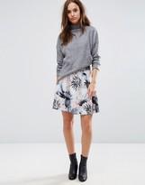 Selected Flower Printed Skirt