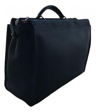 Fendi Peekaboo Navy Leather Bags