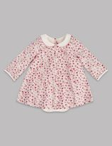 Marks and Spencer Pure Cotton Integral Short Sleeve Bodysuit