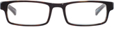 Johnston & Murphy Dark Brown Rectangular Readers