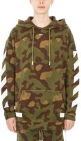 Off-White Diag Camouflage Cotton Hoodie