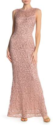 Marina Sequin Lace Sleeveless Maxi Dress