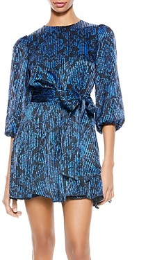 Alice + Olivia Mina Printed Dress