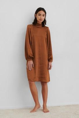 NA-KD Volume Sleeve Satin Dress