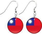 Body Candy Taiwan Flag Earrings