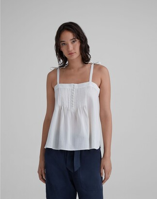 Club Monaco Pintuck Textured Tank