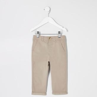 River Island Mini boys Beige chino trousers