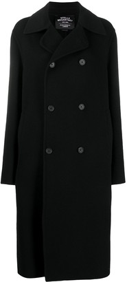 Stella McCartney Double-Breasted Hooded Wool Coat