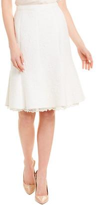 Oscar de la Renta Silk-Blend Pencil Skirt