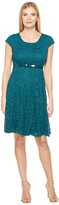 Christin Michaels Collins Paneled Fit and Flare Women's Dress