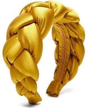 Marta Ferri - Braided Silk-satin Headband - Gold