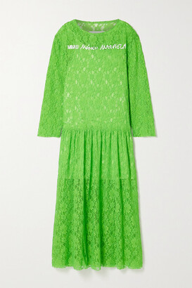 MM6 MAISON MARGIELA Oversized Printed Corded Lace Maxi Dress