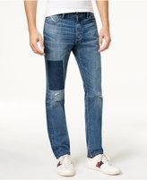 Tommy Hilfiger Men's Patch-Front Medium Blue Wash Jeans