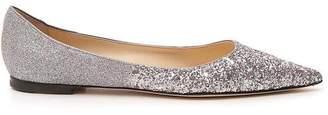 Jimmy Choo Glittered Flat Shoes