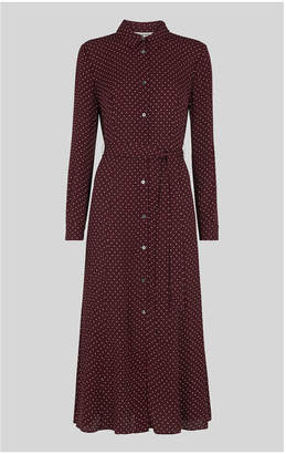 Whistles Margot Spot Shirt Dress