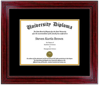 "Perfect Cases, Inc. Single Diploma Frame with Double Matting, Sport Cherry, 11""x14"""
