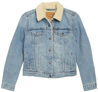 Levi's Original Faux Shearling Lined Denim Trucker Jacket