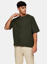 TopmanTopman Green Textured Boxy T-Shirt