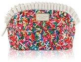 Betsey Johnson Women's Large Ruffle Cosmetic Cosmetic Bag