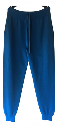 Johnstons of Elgin Blue Cashmere Trousers