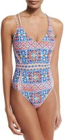 LaBlanca La Blanca Corsica Tile-Print One-Piece Swimsuit