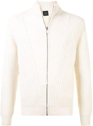 Kent & Curwen Zipped Long-Sleeve Cardigan
