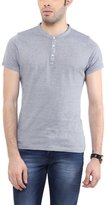 American Crew Men's Henley Half Sleeve Stripes T-Shirt - XL (ACHN50-XL)
