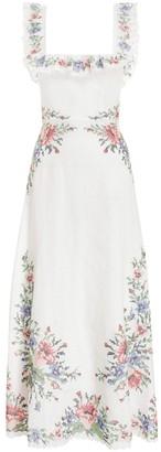 Zimmermann Juliette Cross Stitch Dress in Ivory