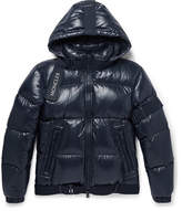 Moncler C - Quilted Shell Down Hooded Jacket - Navy