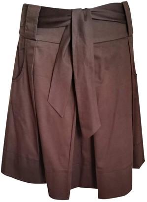 Hallhuber Brown Cotton - elasthane Skirt for Women