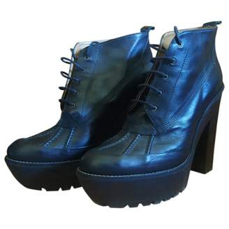 Polo Ralph Lauren Black Leather Ankle boots