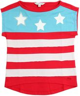Little Marc Jacobs Flag Printed Cotton Jersey T-Shirt
