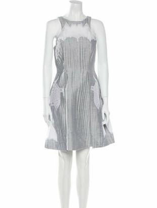 Jonathan Simkhai Linen Mini Dress Grey