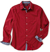Nautica Classic Fit All Over Print Stretch Long-Sleeve Shirt