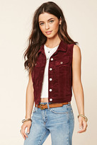 Forever 21 FOREVER 21+ Buttoned Corduroy Vest