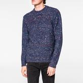 Paul Smith Men's Navy Merino-Alpaca Blend Nep Sweater