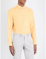 Armani Collezioni Slim-fit Linen Shirt
