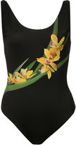 Onia Kelly yellow orchid one piece
