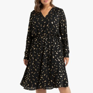 La Redoute Collections Plus Long-Sleeved Floral Dress