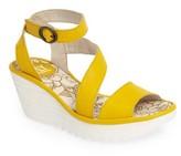 Fly London Women's 'Yesk' Ankle Strap Wedge Sandal