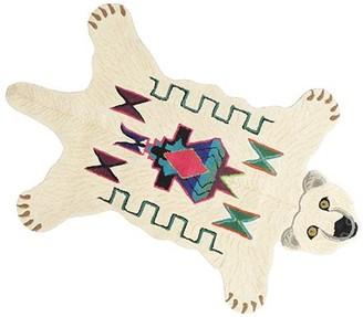 Doing Goods - Large Kasbah Polar Bear Rug - L - White/Teal/Red