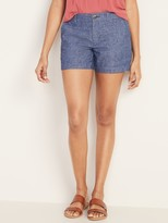 Old Navy Mid-Rise Everyday Linen-Blend Shorts for Women – 5-inch inseam