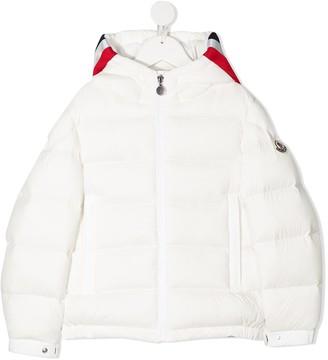 Moncler Enfant Stripe-Trimmed Puffer Jacket